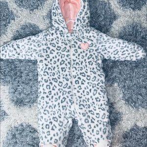 8283eb1e8 Little Wonders Baby Girl Leopard Print Fleece